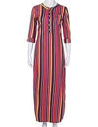 POLP Vestidos Cortos Mujer ◉ω◉ Vestido Rayas Mujer,Tallas Grandes Vestidos, Ropa