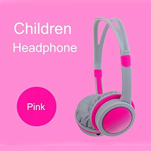 TravelLight Kopfhörer für Kinder, mit Kabel, Lautstärkeregler, Schutz für Kinder, Verstellbare On-Ear-Kopfhörer für PC, Tablet, iPad, iPhone, Smartphones, Anrufe, Musikspiele – Rot (?)