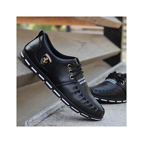 Autumn Men Shoes Moccasins Men Casual Shoes British Style Popular Men Flats Fashion small Leather Single Shoes New Black 8 -