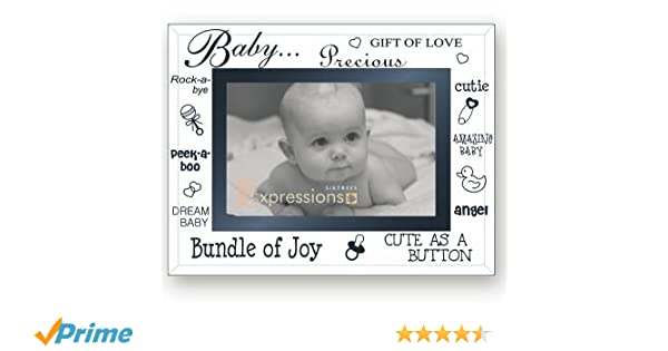 Sixtrees Moments Bevelled Glass Baby 6 x 4 Photo Frame: Amazon.co.uk ...