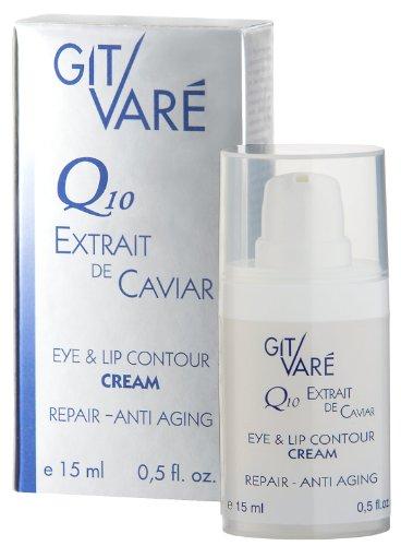 Git Vare Q10 Extrait de Caviar Cell Energy Eye und Lip Cream, 15 ml