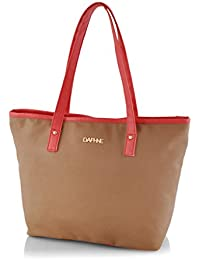 Latest Brown Color Printed Red Line HandBags For Women And Girls By Daphne Fashion