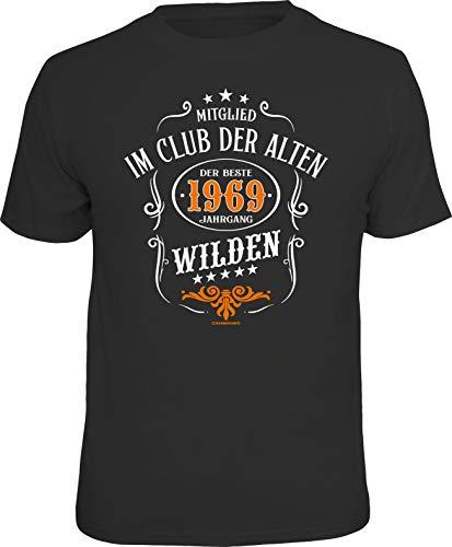 RAHMENLOS Original Geschenk T-Shirt zum 50. Geburtstag: Mitglied im Club der Alten Wilden XL
