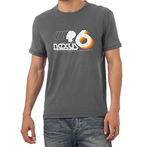 NERDO - Nexus 6 Personalized Humanoid Replicant Series - Herren T-Shirt Grau