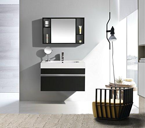 Import for me mobile arredo bagno idea 90 cm sospeso moderno nero