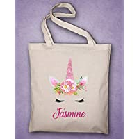 Tote Bag Licorne à personnaliser, sac personnalisé, sac personnalisable, sac bibliothèque, sac chausson, sac licorne