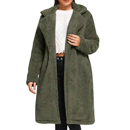 Damen Winterjacke Wintermantel Langer Jacke Daunenjacke Warm Kimono Cardigan Daunenmantel Fashion Herbst Winter Lange Wollmantel Outwear