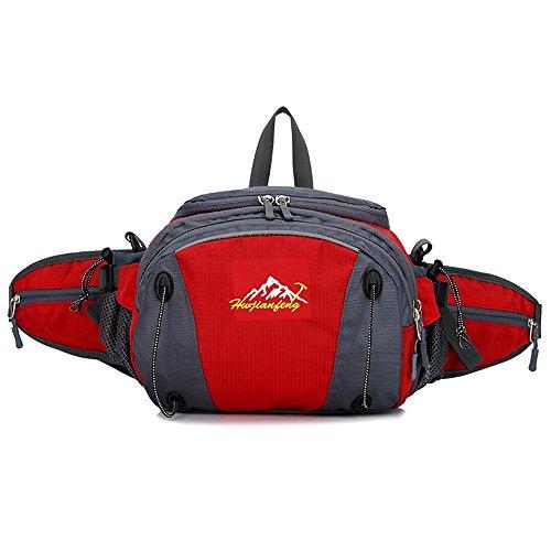 Imagen de wewod riñonera deportiva iphone 6 plus/riñoneras trekking/riñoneras viaje/ de viaje 19 x 32 x 11 cm l x h x w  rojo