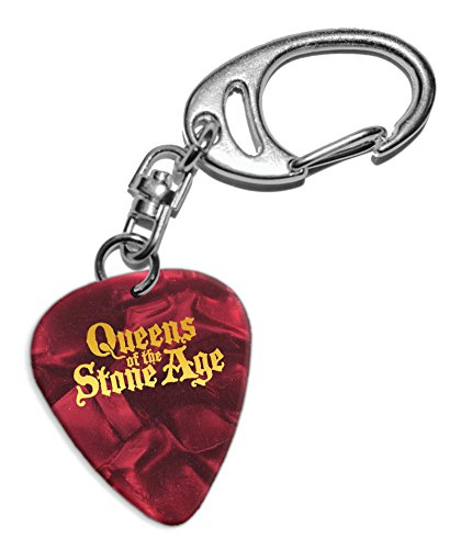 Queens Of The Stone Age Púa de Guitarra Llavero Keyring Red Pearl ( GHF )