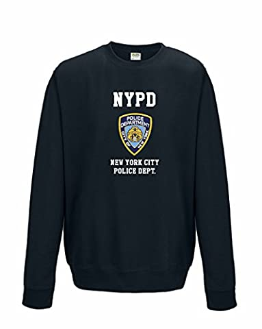 Unisex New York Cops – NYPD NEW YORKER Police inspiriert Funny Pullover Gr. M, Blau - Oxford Navy