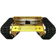 FLAMEER Chasis con Orugas y Ruedas 4WD con Dispositivo de Amortiguador de Choque para Robot Coche