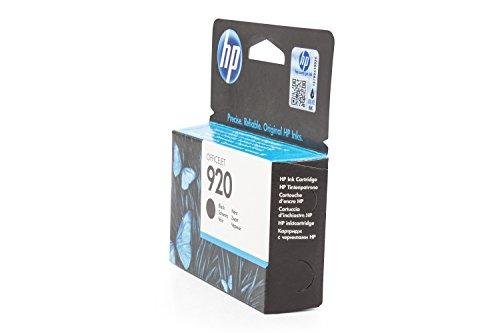 Preisvergleich Produktbild Original Tinte passend für HP OfficeJet 6500 Series HP 920 ,  920BK ,  920BLACK ,  NO920 ,  NO920BK ,  NO920BLACK ,  Nr 920 CD971AE - Premium Drucker-Patrone - Schwarz - 420 Seiten - 12 ml