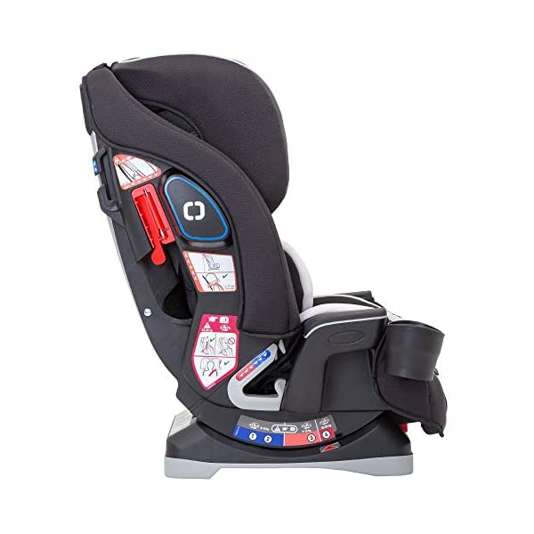 Graco Slimfit All-in-One Car Seat, Group 0+/1/2/3, Pearl Grey Graco 3 in 1 car seat can be used from birth up to 36 kg (approximately 12 years). rearward facing for longer from birth to approx. 4 years (0-18kg) Easily converts to and from the three riding positions; rear-facing harnessed seat (0-18kg), to forward-facing harnessed seat (9-18kg) and to high back booster (15-36kg) True shield safety surround side impact protection for enhanced safety 4