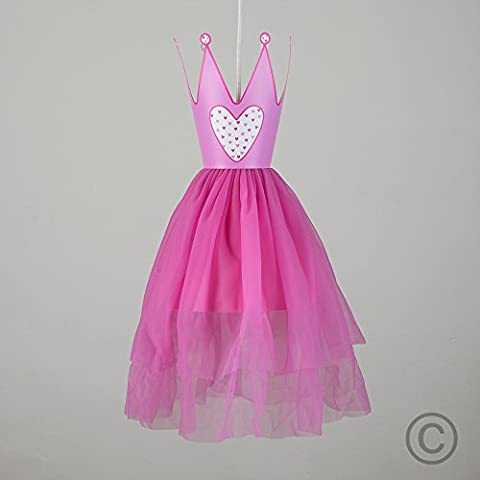 MiniSun, Abat-Jour Abat Jour pour Suspension,Rob e de Princesse et Couronne en rose. Parfait pour enfants ou Décor