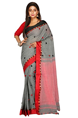 Malati Bastrabitan Gorgeous Black & Red Khadi Handloom Saree, comfortable & very...
