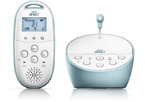 Philips Avent SCD560/00 OP Babyphone DECT (Capteur de température, berceuses), bleu clair/blanc