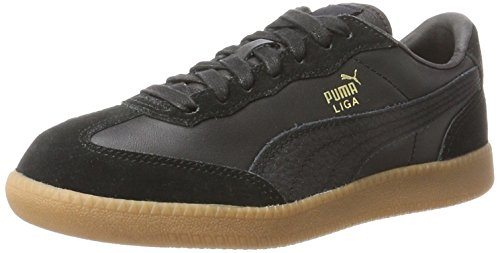 PUMA Unisex-Erwachsene Liga Leather Sneaker, Schwarz (Black-Black), 45 - Puma Liga Leather