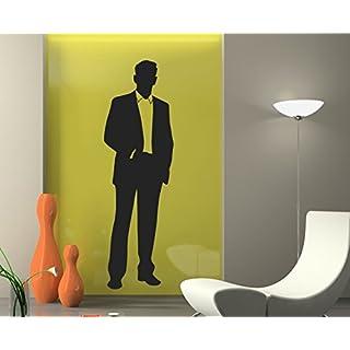 arslinea Wandtattoo -Mann Silhouette, 60x18 cm, rot