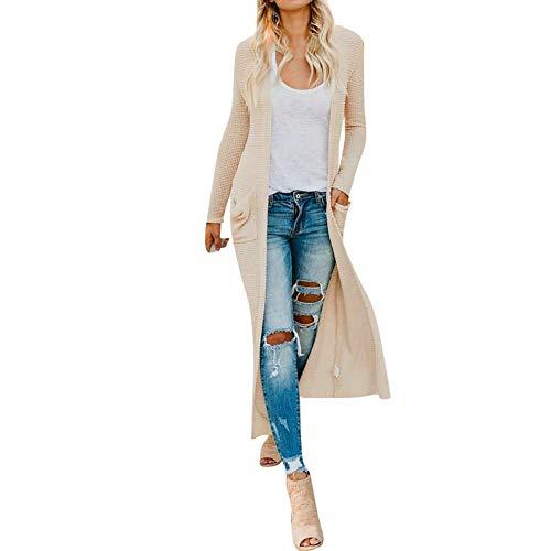 TianWlio Damen Strickjacken Frauen Mode Mantel Langarm Strickjacken Tops Damen Herbst Jacke Shirts...