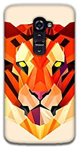 The Racoon Grip Pastel Tiger hard plastic printed back case / cover for LG G2