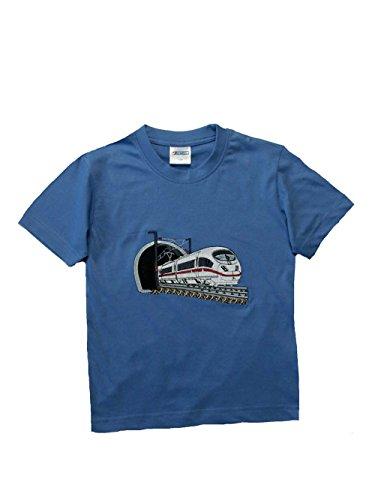 Zintgraf OEKO-TEX® T-Shirt Stickerei Schnellzug Eisenbahn J28 (122, Azur)
