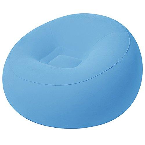 Aire Sillón 112x 112x 66cm Azul • Lounge Sillón hinchable–Saco de Asiento...