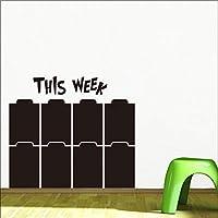TYKCRt Wall Sticker Week Planner Blackboard Chalkboard S Office Classroom Home Decoration Diy Nursery Note Labels Decals Mural Art