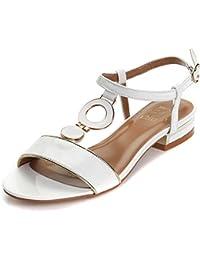 Alexis Leroy Chaussures avec un talon carré Sandales Bride arrière femme