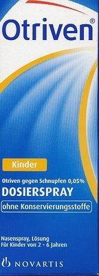 Otriven 0,05% ohne Konservierungsstoffe Dosierspray für Kinder bei Schnupfen, 10 ml Lösung