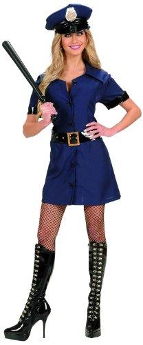 Hut Kostüm Polizistin - Widmann 77233 - Kostüm Polizistin, Kleid, Gürtel und Hut, Größe L