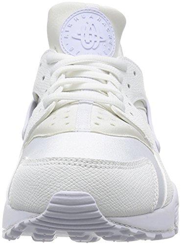 Nike Wmns Air Huarache Run, Chaussures de Sport Femme Blanc Cassé - Blanco (White / White)