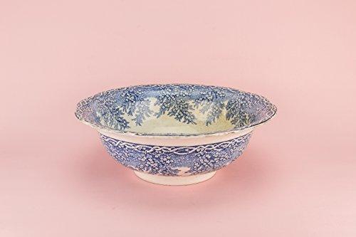 Shabby Chic Antique Mai Morn dekorative Schale J M P Glocke Co Pasta Geschenk Keramik blauen und weißen viktorianischen Abendessen Serving Cereal 1850er Scottish LS (Keramik-abendessen)