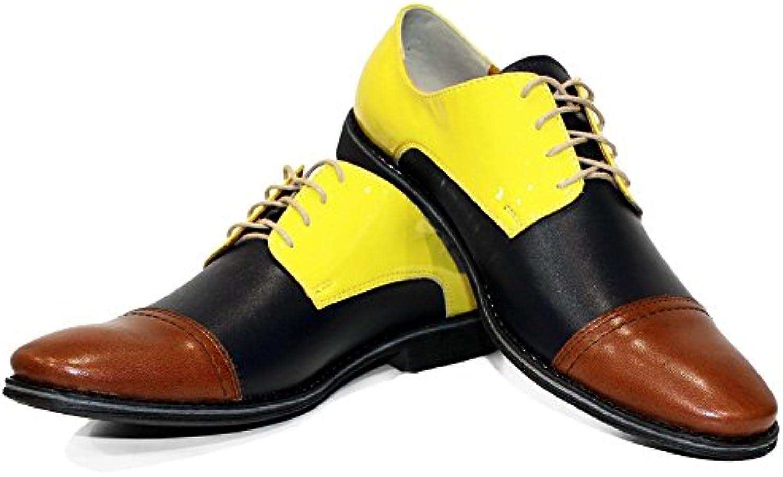 Modello Bellushi - Handmade Italiano da Uomo in Pelle Coloreeato Scarpe da Sera - Vacchetta Pelle Morbido - Allacciare | Eccellente qualità  | Scolaro/Ragazze Scarpa