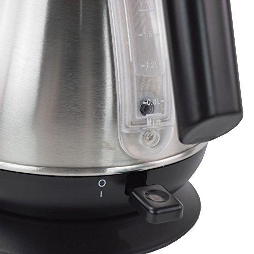 Syntrox Germany WK-2200W-1.7T Inox MAR 2200 Watt 1,7 Liter Edelstahl schnurlos Wasserkocher mit Thermometer 360° cordess Wasserkessel Teekessel - 8