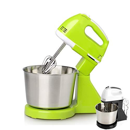 XINLAI Miscelatore Elettrico Verticale Staccabile Agitatore A Gancio per Impasto con Vasca in Acciaio Inossidabile Marmellata Panetteria Panna Impastatrice Robot da Cucina (Verde)