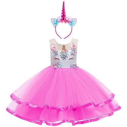 Costumi Carnevale Abbigliamento Halloween Ragazze Unicorno Principessa Abito Tutu Ragazza...