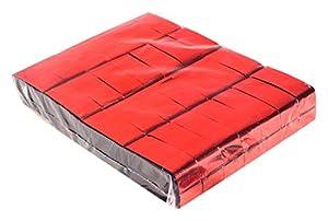 Ohfx Confetti rectangular Color rojo metalizado (Rec/M-RJ