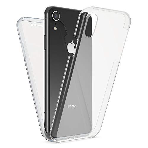 NALIA 360 Grad Handyhülle kompatibel mit Apple iPhone XR, Full-Cover Silikon Bumper mit...