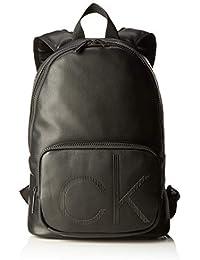 Calvin Klein Herren Ck Up Round Backpack Schultertasche, Schwarz (BLACK), 42x38x15cm