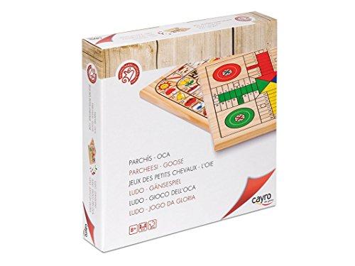 Cayro 632 – Parchís de madera, juego de tablero (632) – Parchis + Oca (30×30), Juego de Mesa