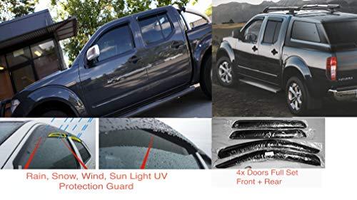 Ventanas 2010 AC WOW 2 deflectores de Viento para Fiat Dobl/ò 2000 Nieve Vidrio acr/ílico parasoles parasoles Color Ahumado Oscuro Interiores para Puertas Laterales Lluvia