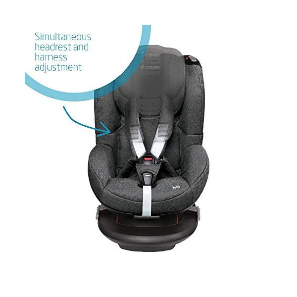 Maxi-Cosi Tobi Toddler Car Seat Group 1, Forward-Facing Reclining Car Seat, 9 Months-4 Years, 9-18 kg, Sparkling Grey Maxi-Cosi Toddler car seat suitable for children from 9 to 18 kg (approximately 9 months to 4 years) Install theMaxi-Cosi Tobi car seatusing the car's seat belt and the integrated belt tensioner ensures a solid fit Spring-loaded, stay open harness to make buckling up your toddler easier as the harness stays out of the way 3