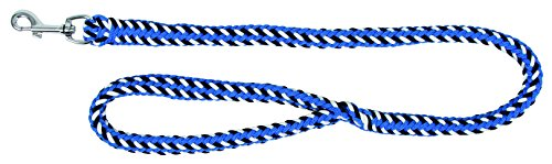 hundeinfo24.de Kerbl 81034 Leine Softra Geflochten, 100 cm x 20 mm, waveblau/dunkelblau