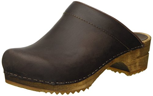 Sanita Damen Chrissy open Clogs, Braun (antique brown 78), 39 EU