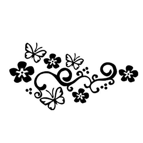 Abdeckung Kratzer Blume Reben Schmetterling Spitze Auto Persönlichkeit Mode Landschaftsbau Dekorative PVC Material