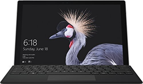 Microsoft Surface Pro (12,3 Zoll) Notebook (Intel Core m3, 4 GB RAM, 128 GB SSD, Windows 10 Pro) silber, ohne Stift + Surface Pro Type Cover schwarz