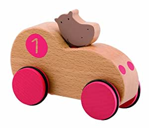 Moulin Roty - Voiture Hippopotame Les Loupiots 8cm