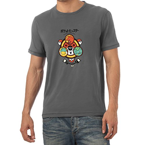 TEXLAB - Poke Trainer - Herren T-Shirt Grau