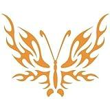 Stencil Tattoo Animal 048 Mariposa. Medidas aproximadas:Tamaño del stencil 10 x 10(cm) Tamaño de la figura 4.5 x 4.5 (cm)
