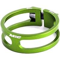 MSC Bikes MSC Ult. Alu7075 T6 CNC+TI 34.9 mm - Cierre tija de sillín de ciclismo, color verde anodizado